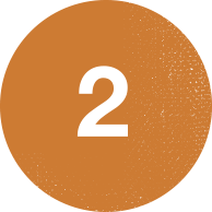 number-two-orange-background
